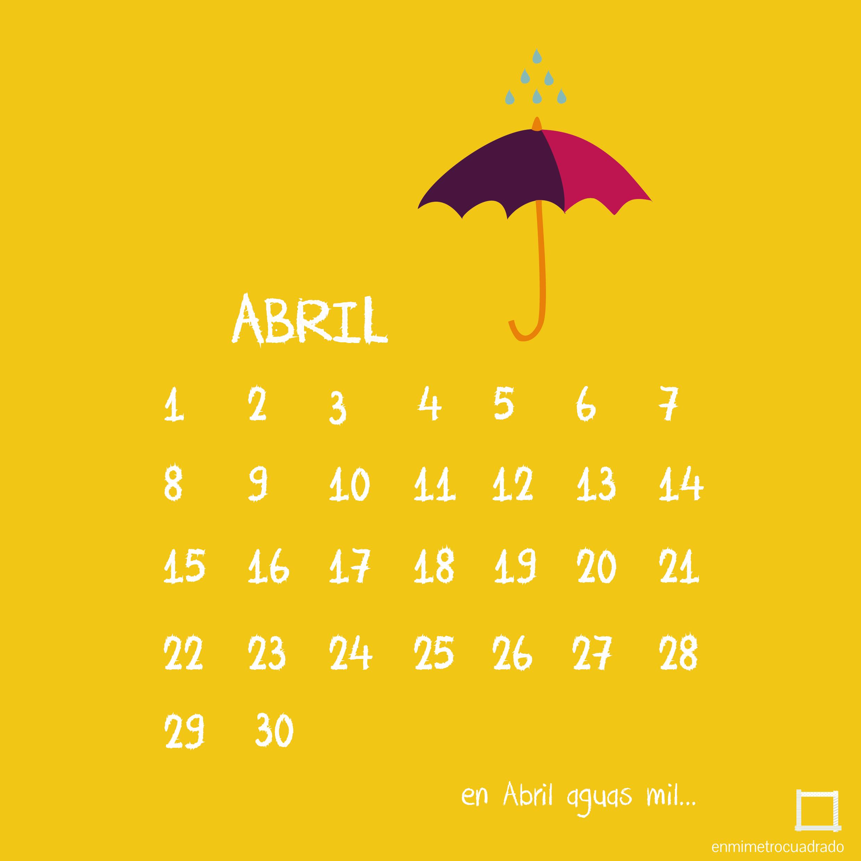 Calendario Abril