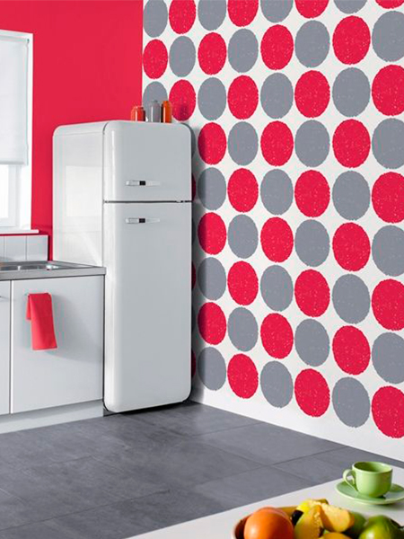 Papel pintado para mi pared enmimetrocuadrado - Como poner papel pintado en la pared ...