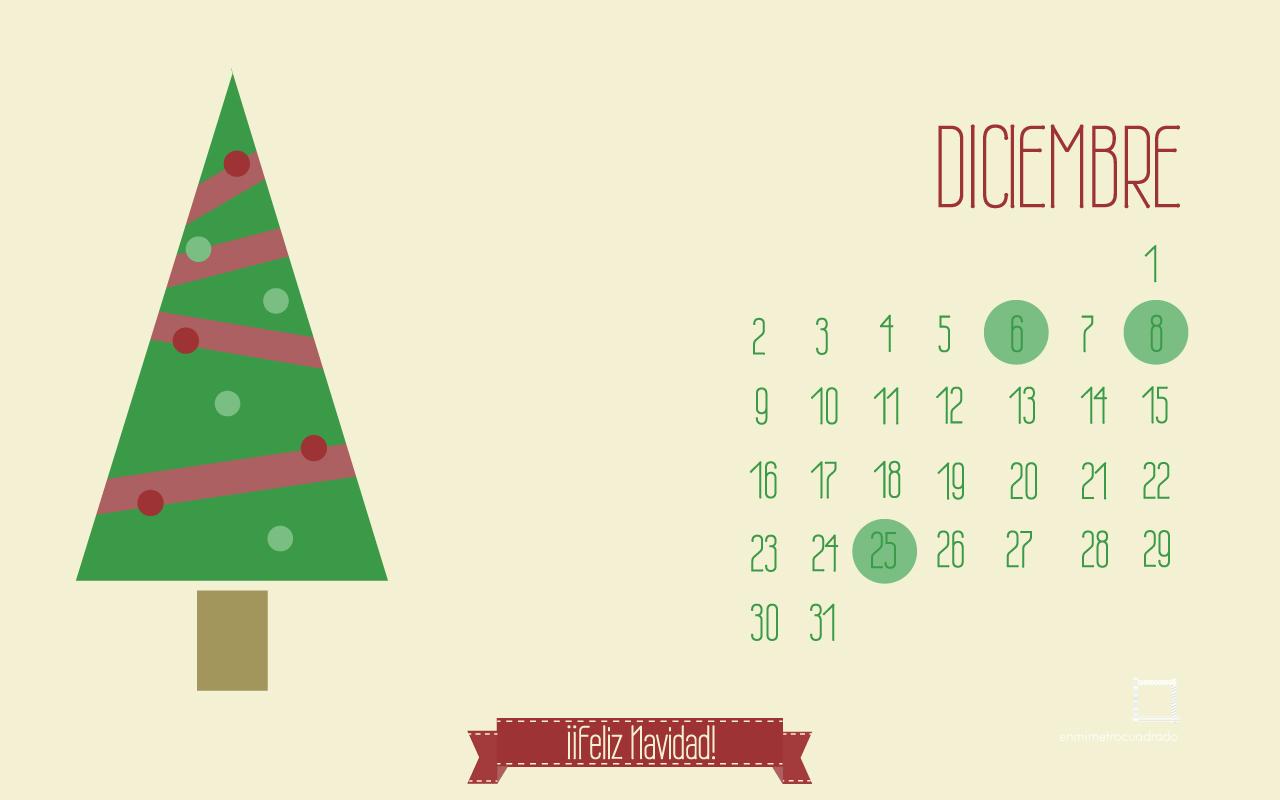 Calendarios descargables diciembre enmimetrocuadrado for Fondo de pantalla calendario 2018